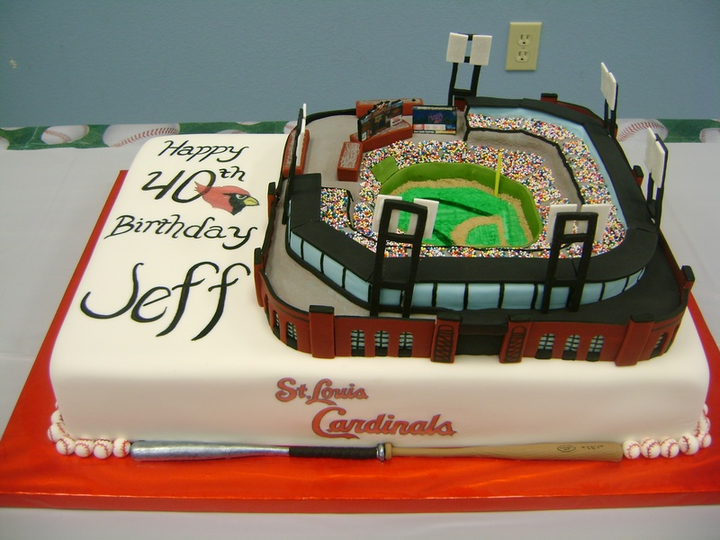 St Louis Cardinals Busch Stadium Specialty Cakes and Desserts