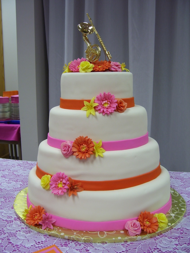 Pink And Orange Specialty Cakes And Desserts