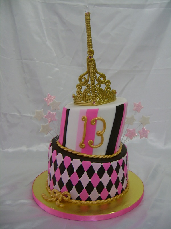 Two Tier Topsy Turvy Cake